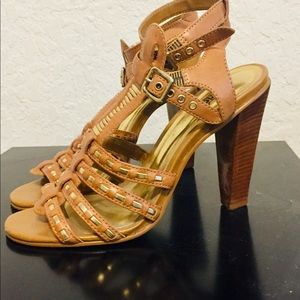 ASOS x Carlos Santana Ginseng Gladiator Heels